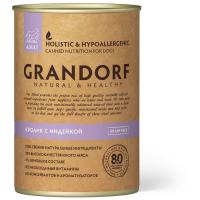 GRANDORF КРОЛИК С ИНДЕЙКОЙ беззерновые консервы для взрослых собак 400г