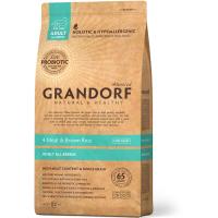 GRANDORF 4 ВИДА МЯСА низкозерновой с живыми пробиотиками для собак всех пород