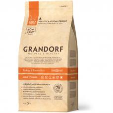 Сухой корм для стерилизованных кошек GRANDORF STERILISED индейка с рисом низкозерновой 37/11