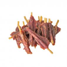 Лакомство для собак GREEN QZIN СТАТЬ-2 Сушеное мясо страуса на воловьей коже весовое