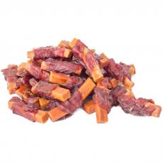 Лакомство для собак и кошек GREEN QZIN ЧУТЬЕ Сушеное утиное мясо на ломтике моркови весовое