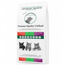 GREENHEART-PREMIUMS 3-MIX с курицей, рыбой и бараниной для взрослых кошек