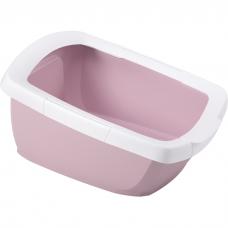 Туалет-лоток для кошек IMAC FUNNY с высокими бортами 62х49.5х33 см нежно-розовый