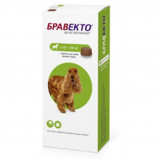 INTERVET БРАВЕКТО жевательная таблетка для собак 10-20 кг