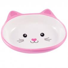 КЕРАМИКАРТ МОРДОЧКА КОШКИ миска керамическая для кошек 160 мл розовая