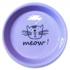 КЕРАМИКАРТ MEOW! Миска керамическая для кошек сиреневая 200мл