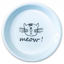КЕРАМИКАРТ MEOW! Миска керамическая для кошек белая 200мл
