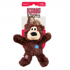 KONG WILD KNOTS МИШКА мягкая игрушка с канатом внутри и пищалкой для собак