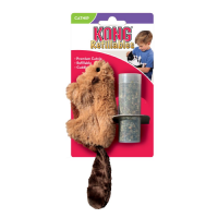 KONG REFILLABLES BEAVER БОБЁР игрушка с заменяемой кошачьей мятой для кошек