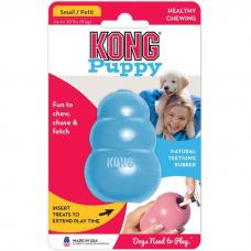 KONG CLASSIC PUPPY S игрушка из натуральной резины для щенков маленькая 7*4см голубая