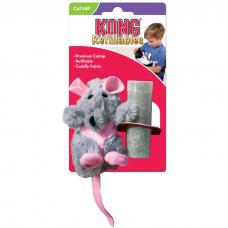 KONG REFILLABLES КРЫСА игрушка с заменяемой кошачьей мятой для кошек