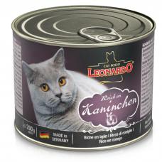 LEONARDO QUALITY SELECTION с кроликом для взрослых кошек консервы