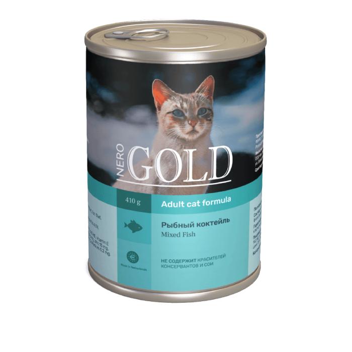 Фото - NERO GOLD CAT РЫБНЫЙ КОКТЕЙЛЬ консервы для кошек
