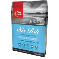 ORIJEN SIX FISH с лососем, сельдью, сайдой, камбалой, судаком и щукой гипоаллергенный для кошек