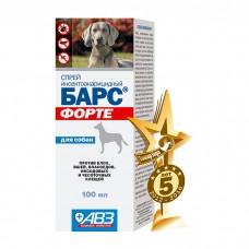 БАРС ФОРТЕ спрей от блох и клещей для собак 100мл