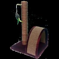 PERSEILINE когтеточка столбик и дуга с игрушкой джут/ковролин 35*30*54см