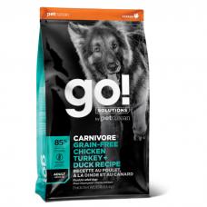 GO! CARNIVORE GF 4 ВИДА МЯСА  беззерновой с индейкой, курицей, лососем и уткой для взрослых собак всех пород