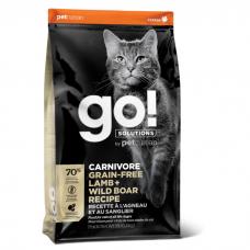 GO! SOLUTIONS CARNIVORE беззерновой с ягненком и мясом кабана для котят и кошек