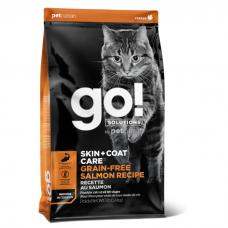 GO! SKIN+COAT беззерновой с лососем для котят и кошек