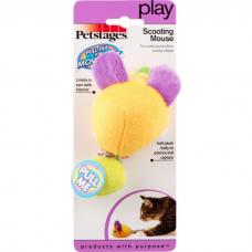 PETSTAGES Мышь заводная вибрирующая игрушка для кошек