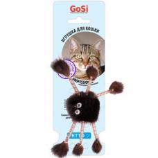 Игрушка для кошек GOSI 07106 ПАУК ИЗ НОРКИ натуральный мех
