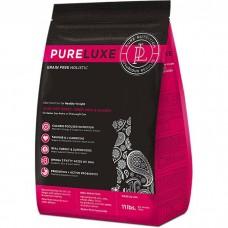 Сухой корм для пожилых и склонных к полноте кошек PURELUXE беззерновой с индейкой и лососем 32/12
