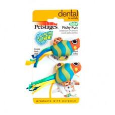 PETSTAGES УХОД ЗА ЗУБАМИ «Рыбки с кошачьей мятой» набор из двух игрушек