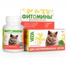 VEDA ФИТОМИНЫ для кастрированных котов витамины