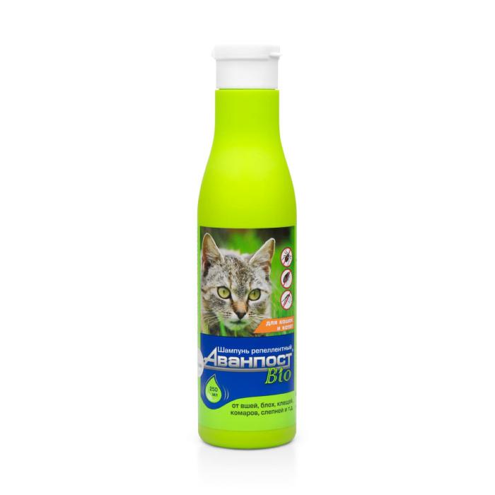 Фото - VEDA АВАНПОСТ BIO шампунь репеллентный для кошек 250мл